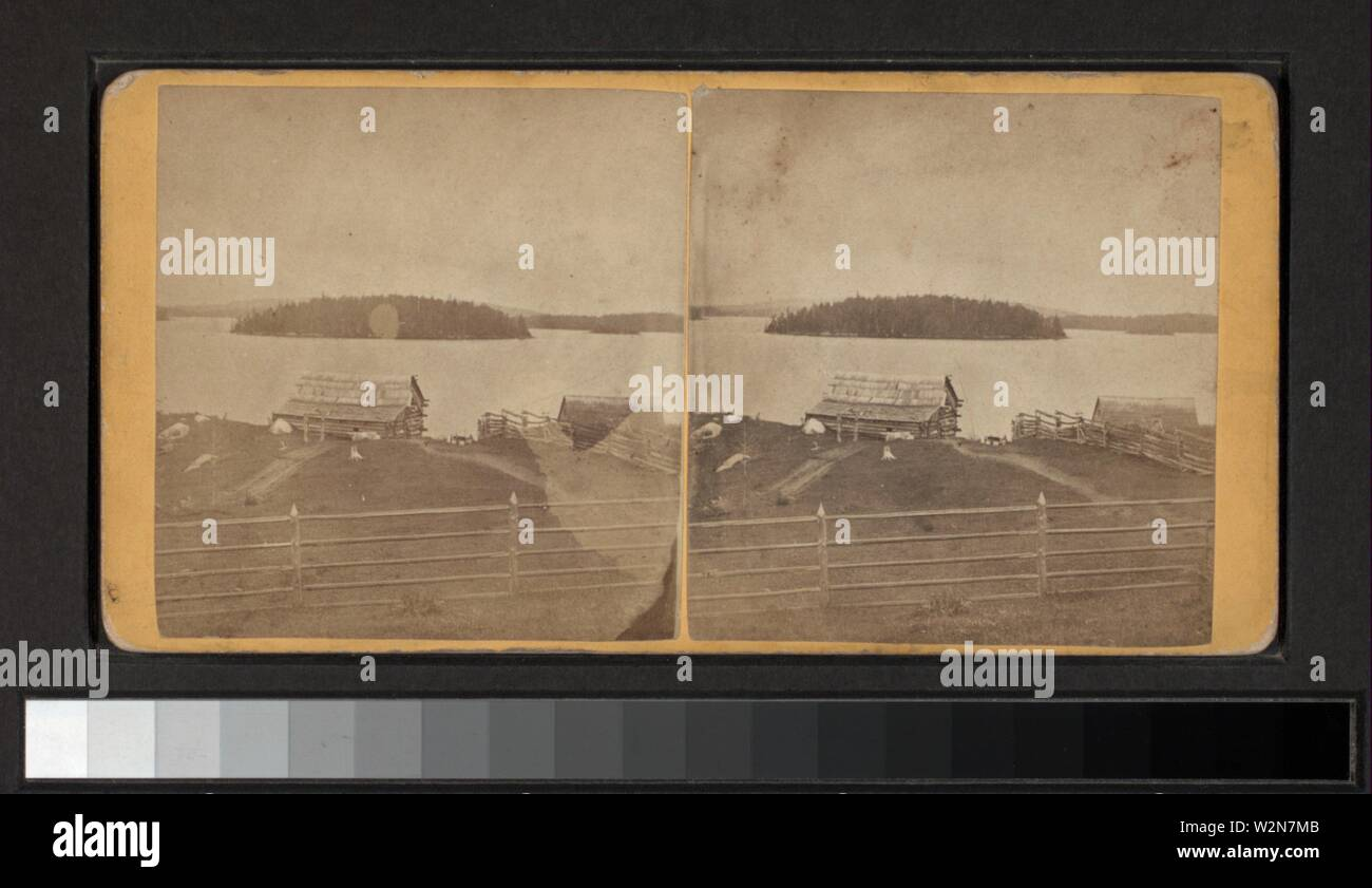 Corey's Landing, Upper Saranac Lake. Additional title: Adirondac Views. Tousley, H. S. (1825-1895) (Photographer). Robert N. Dennis collection of - Stock Image