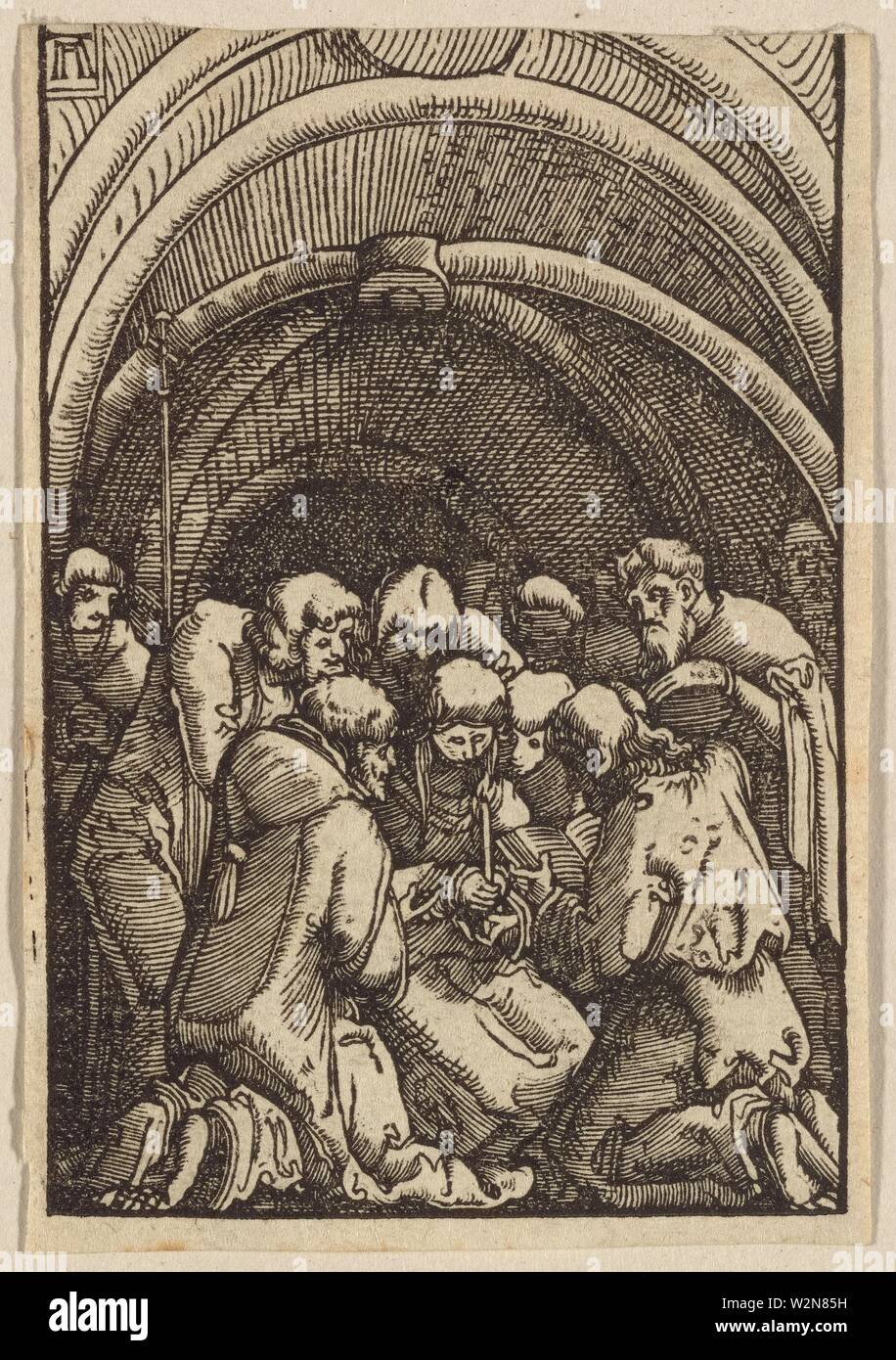 Death of the Virgin. Altdorfer, Albrecht, approximately 1480-1538 (Printmaker). German master prints The Fall and Redemption of Man. Date Created: - Stock Image