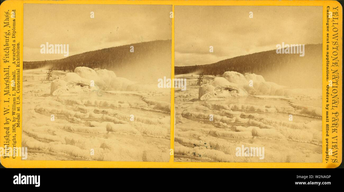 Crater of Old Faithful Geyser. Marshall, William I. (William Isaac) (1840-1906) (Publisher). Robert N. Dennis collection of stereoscopic views United - Stock Image