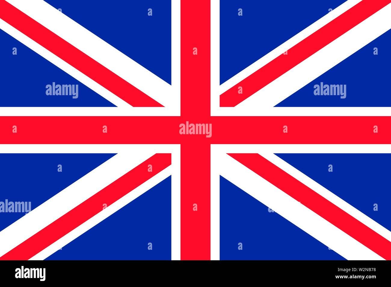 United kingdom flag background. Vector eps10 illustration - Stock Image