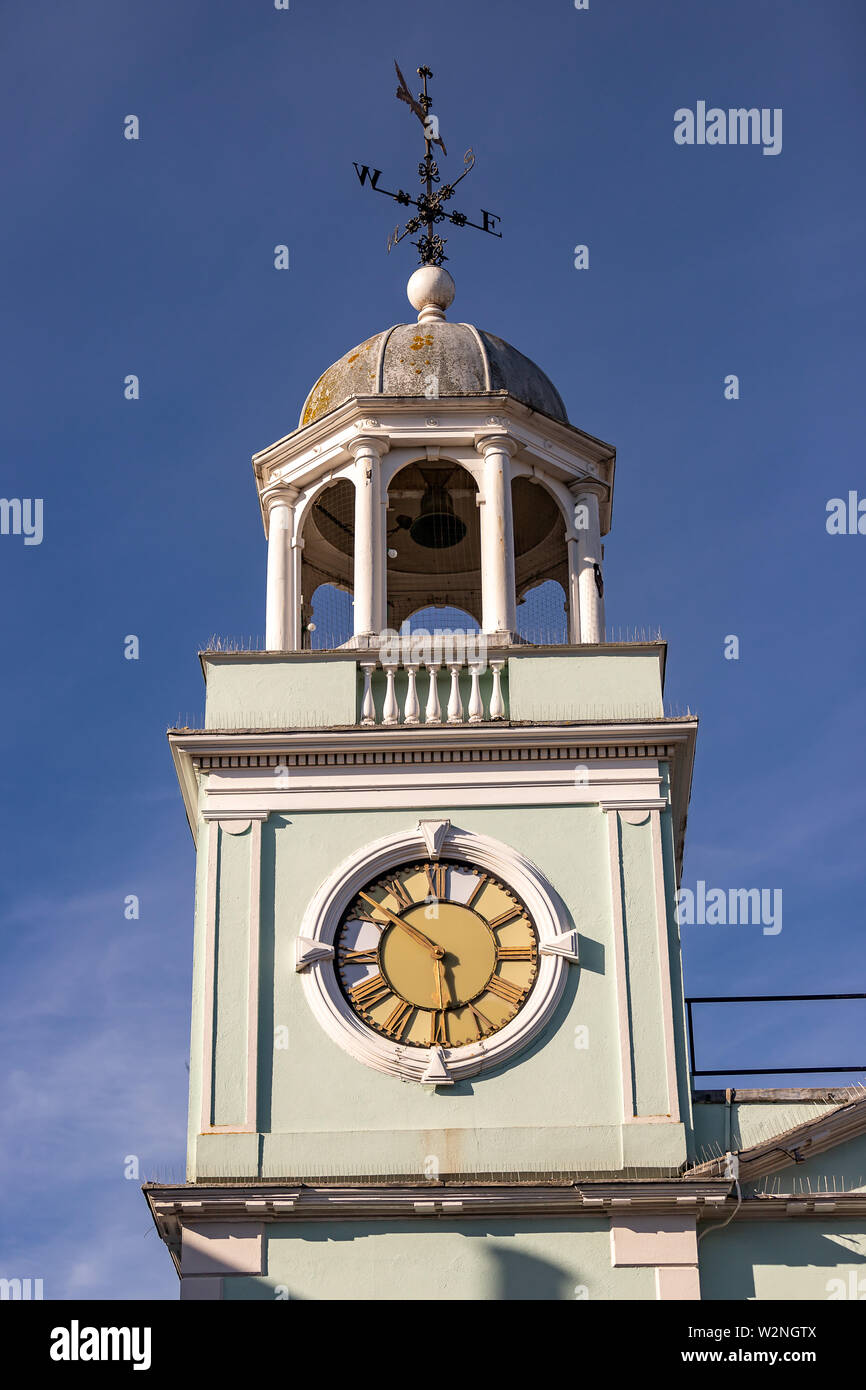 Image of Clock on Guild Hall in Faversham Town centre Stock Photo