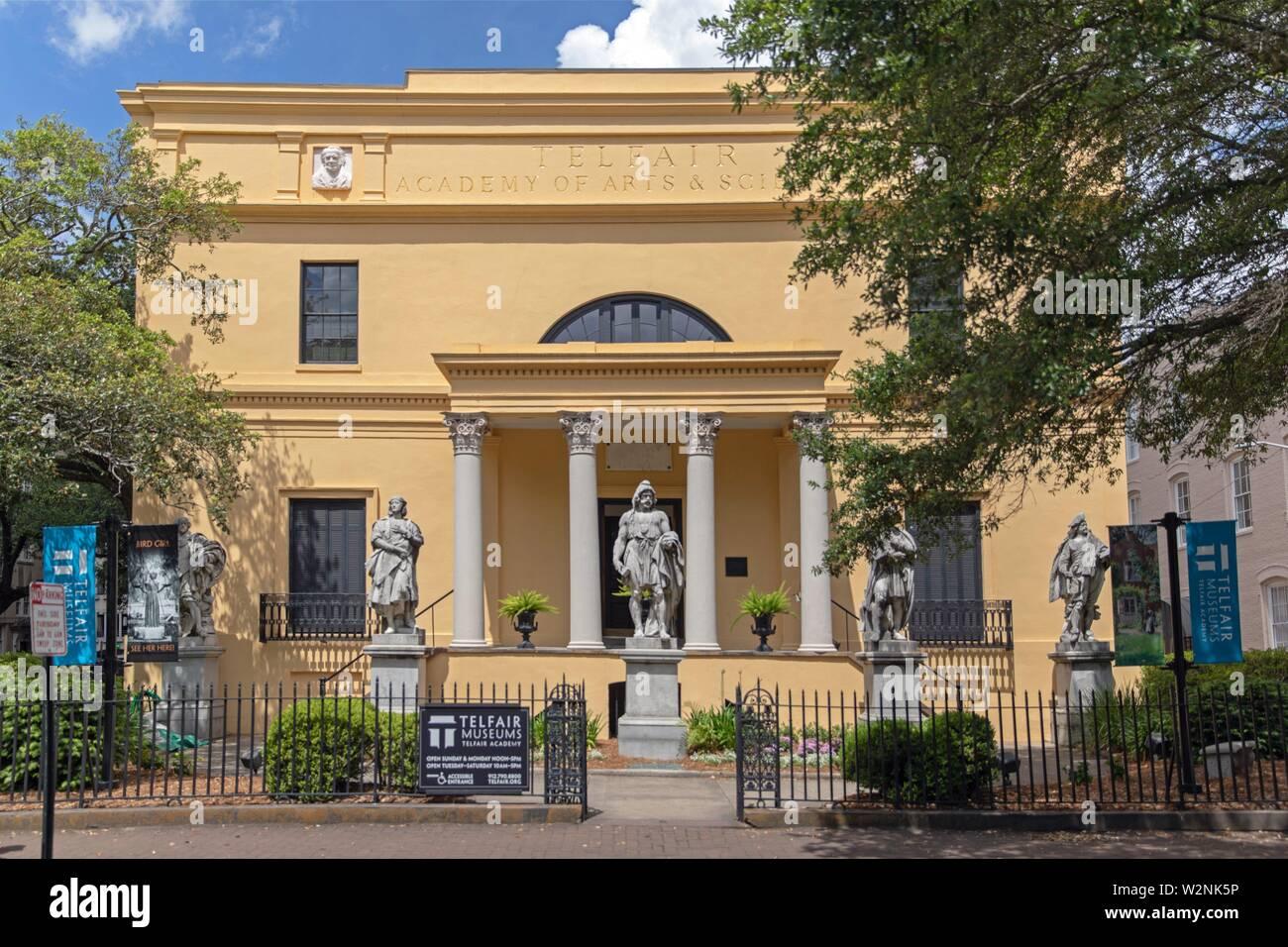 Telfair museum. - Stock Image