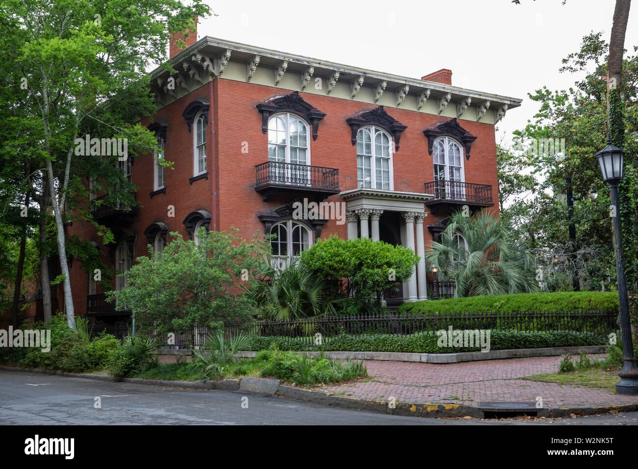 Mercer house Midnight in the garden of good and evil. - Stock Image