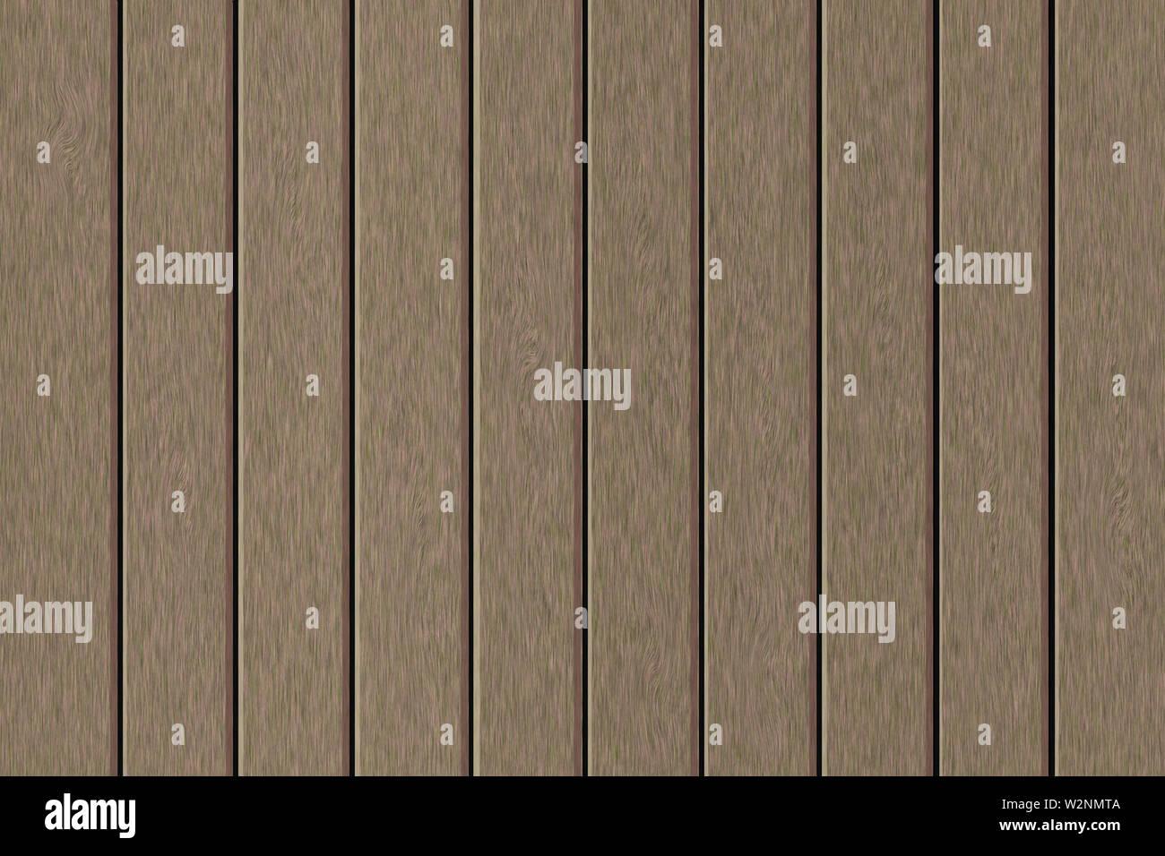 Illustration. Frame filled with imitation of greyish wooden planks. - Stock Image