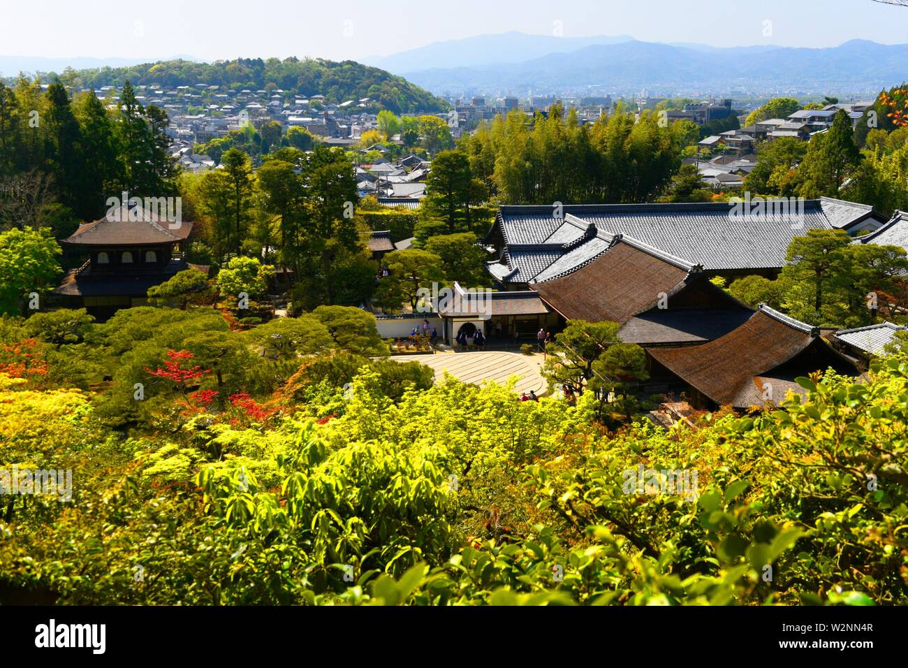 Ginkaku-ji temple or Silver Pavilion in Kyoto city, Honshu, Japan, Asia. Stock Photo