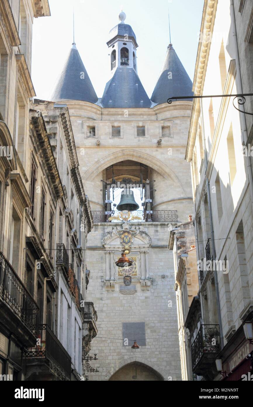 Great Bell (Grosse cloche) of Bordeaux, France. - Stock Image