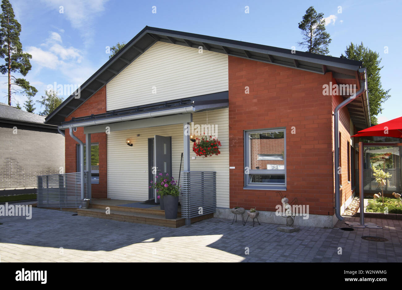 House 11 at exhibition Asuntomessut 2012 in Tampere. Finland - Stock Image