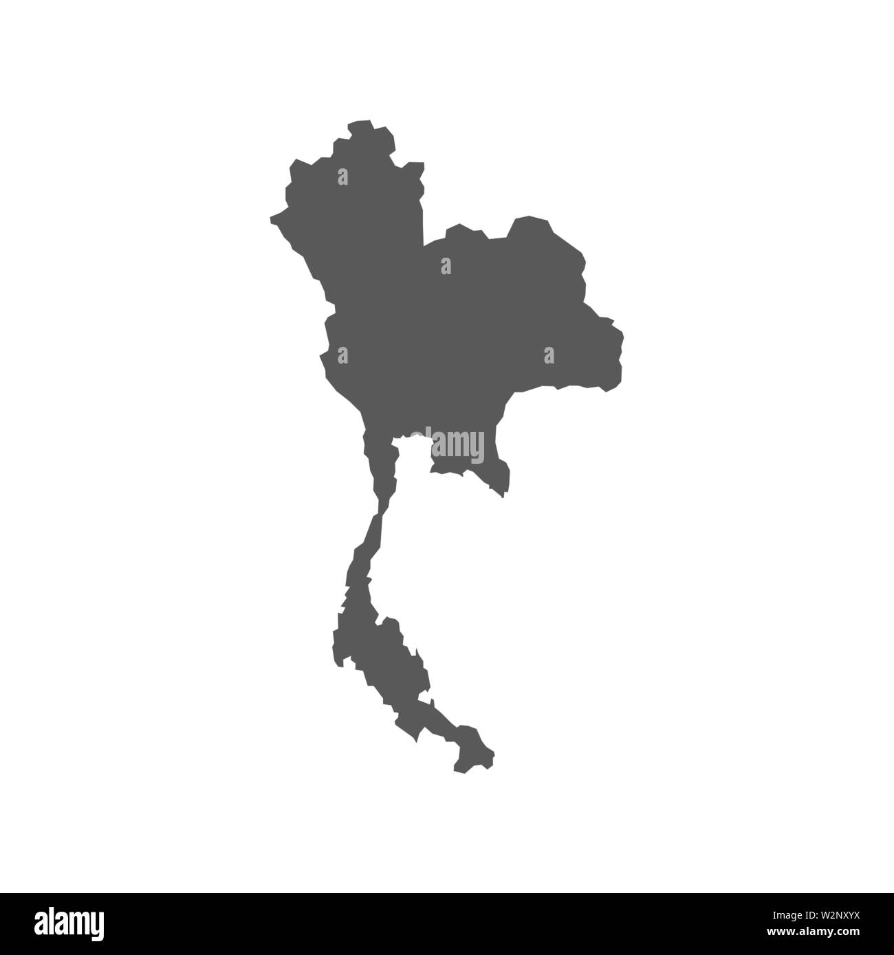Vector Thailand map isolated on white back Stock Vector Art ...
