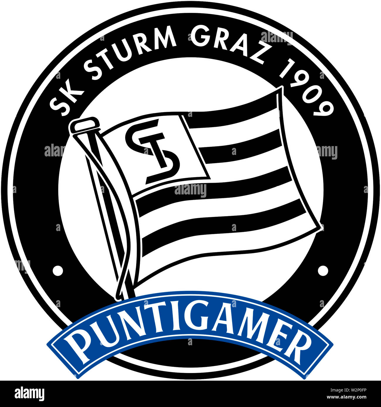 Logo of Austrian football team SK Sturm Graz - Austria. - Stock Image