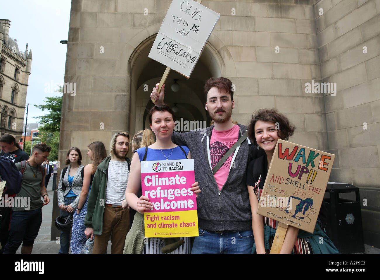 Manchester, UK, 10th July, 2019. Manchester Council declares a climate emergency.  The public gallery was full of climate campaigners, Manchester Town Hall Extension, Manchester, UK. Credit: Barbara Cook/Alamy Live News - Stock Image