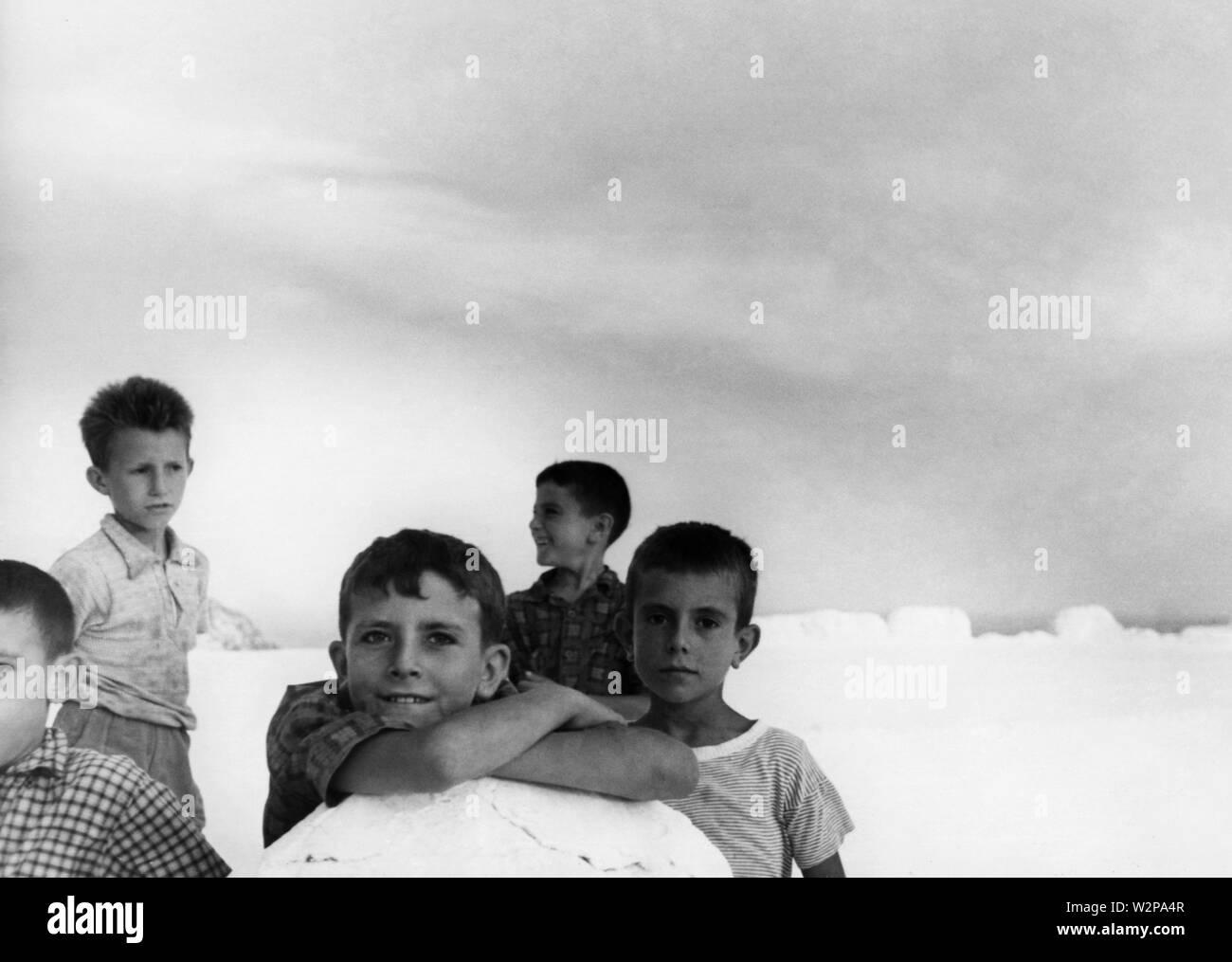 children, ponza, lazio, 1960 - Stock Image