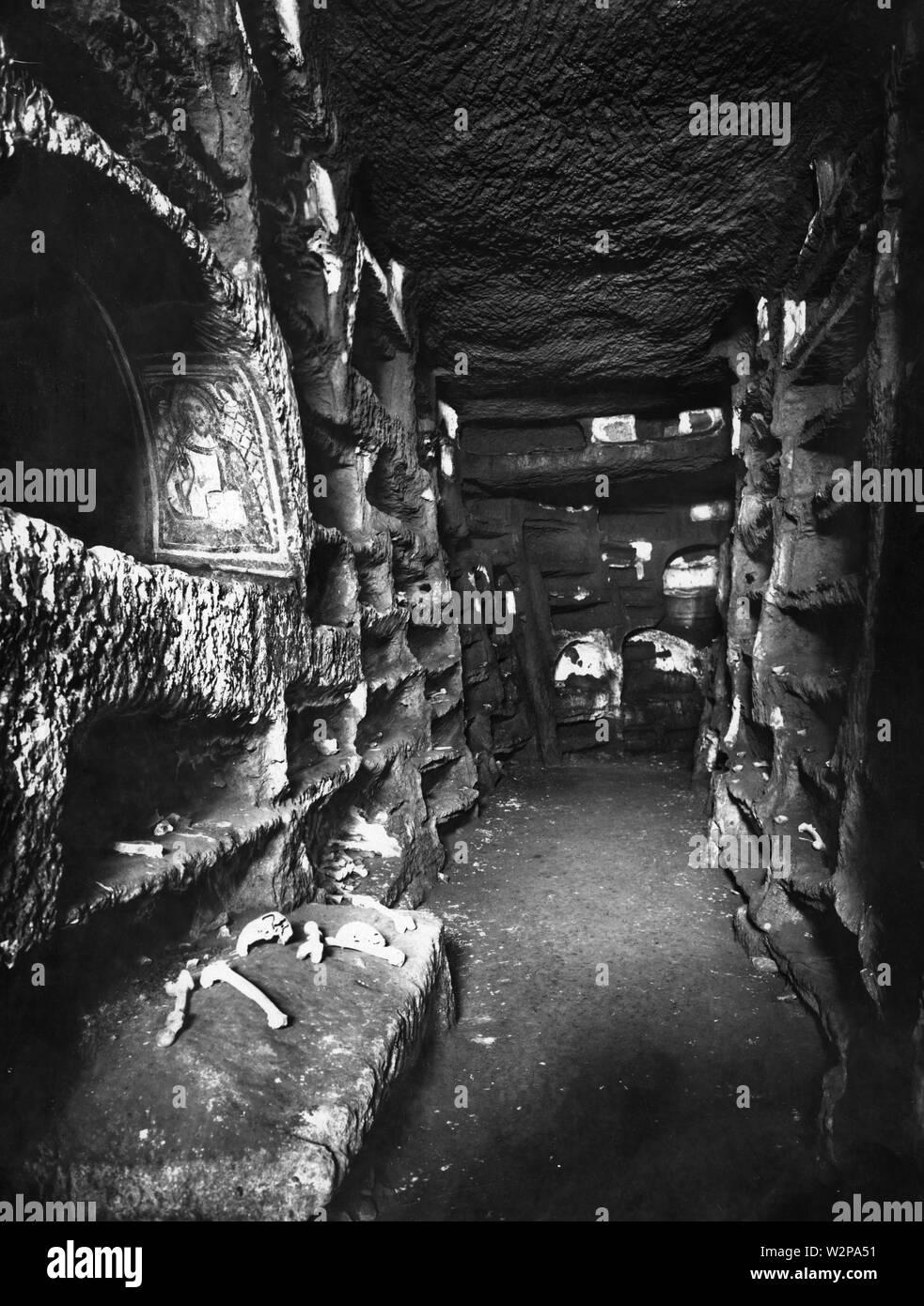 catacomb of santa savinilla, nepi, lazio, 1920 - Stock Image