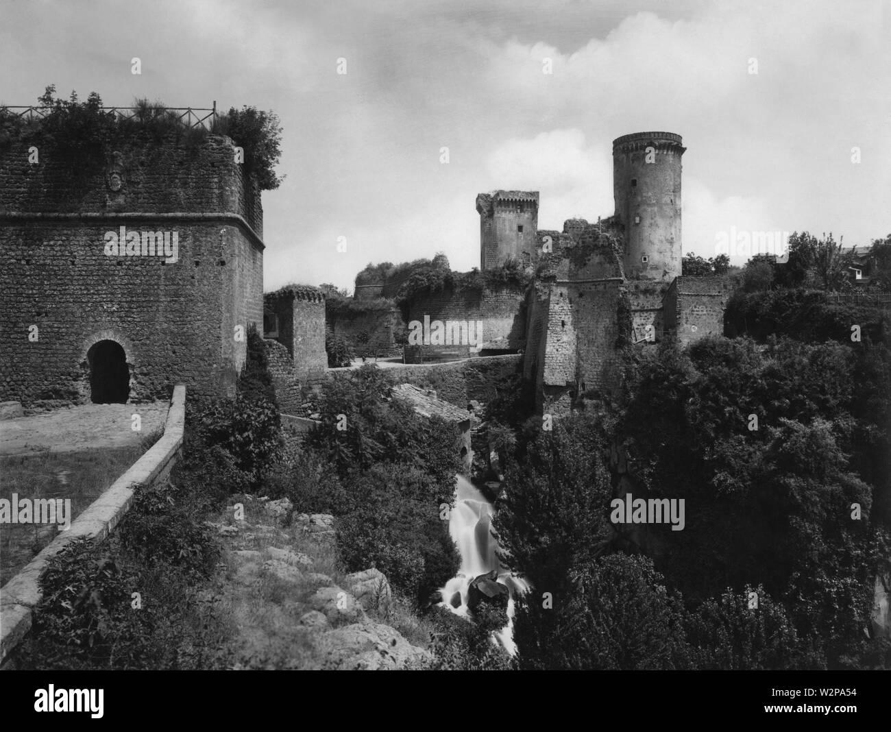 lazio, castello dei borgia, nepi, 1920 - Stock Image