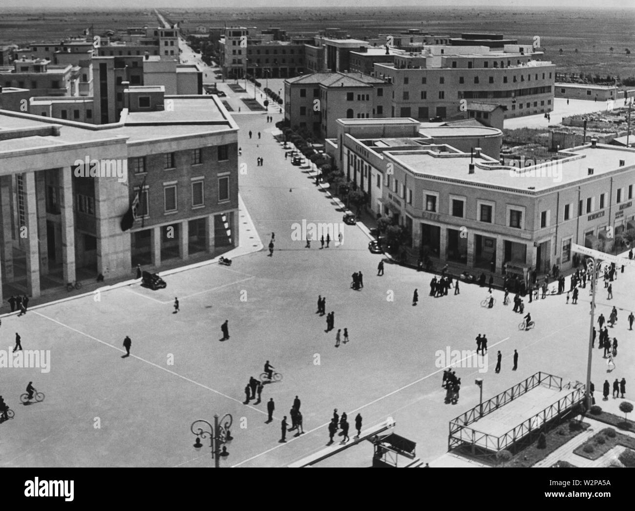 lazio, view of littoria from the civic tower, 1920-30 - Stock Image