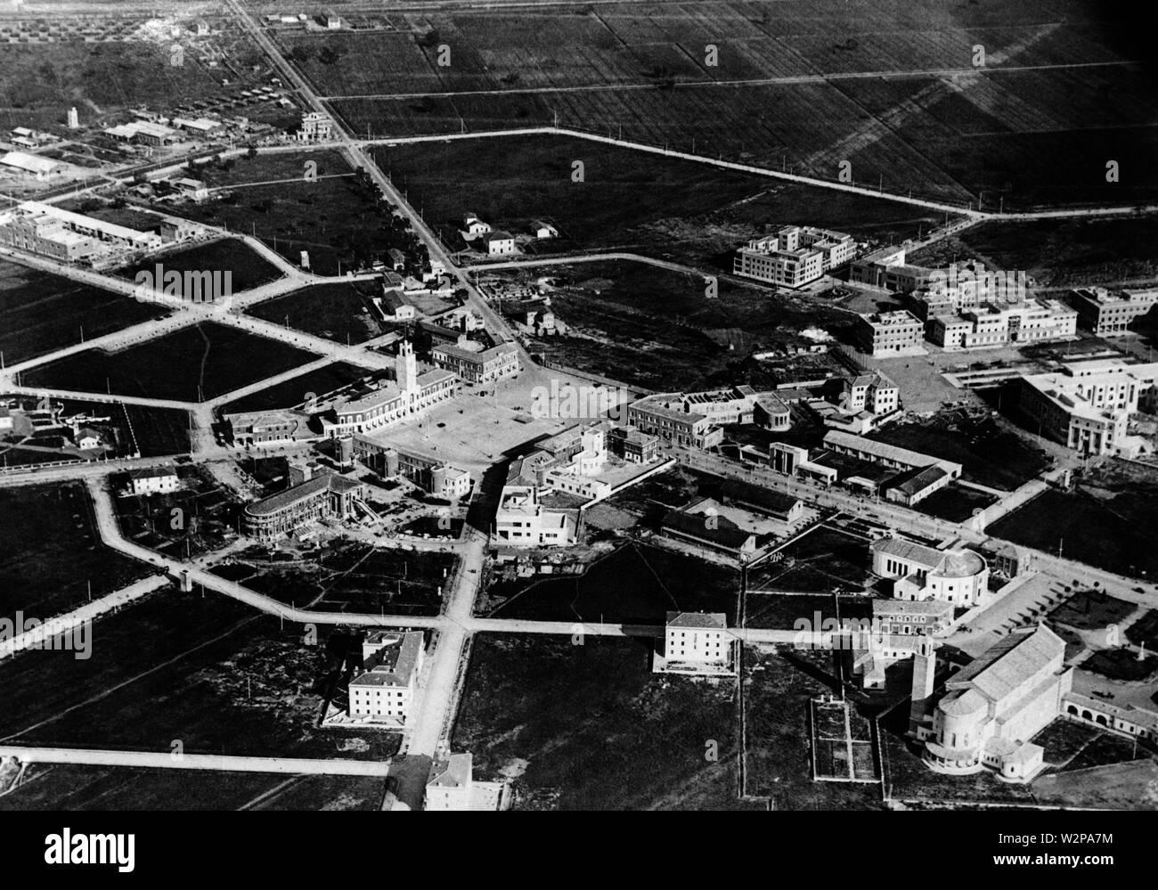 Lazio, Littoria seen from above, 1920-30 - Stock Image