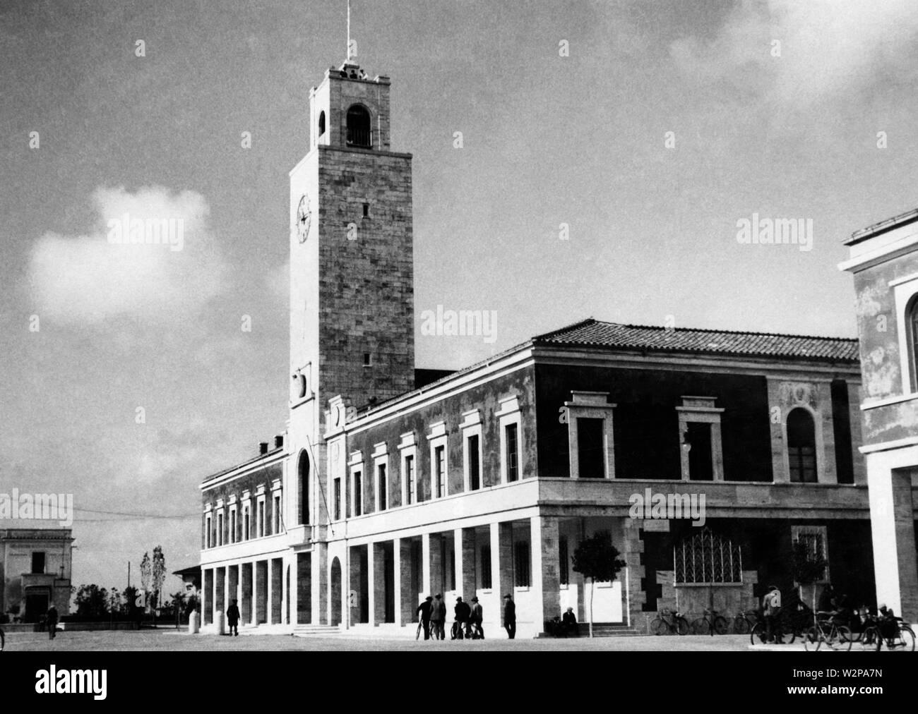 lazio, the municipality of littoria, 1920-30 - Stock Image