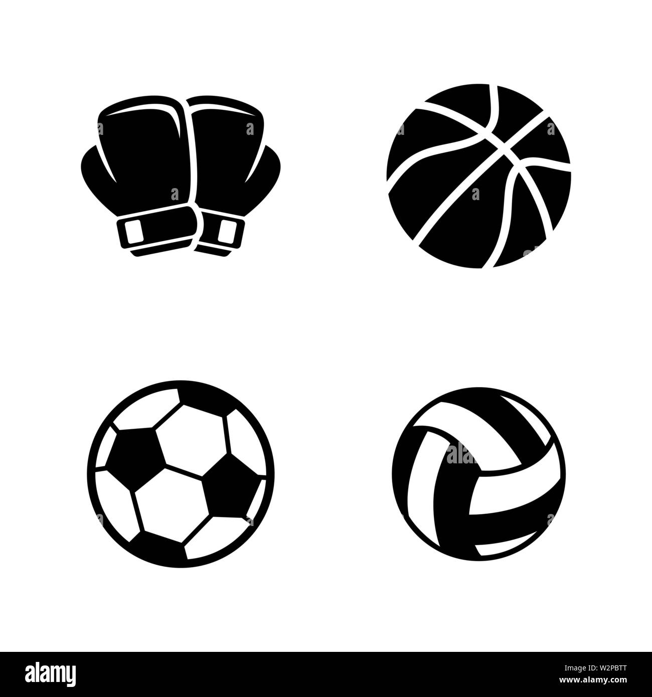 Sports Equipment Simple Related Vector Icons Set For Video