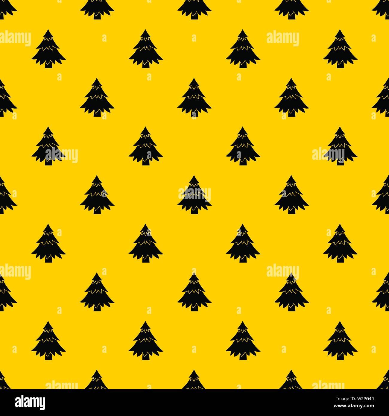 Coniferous tree pattern vector - Stock Image