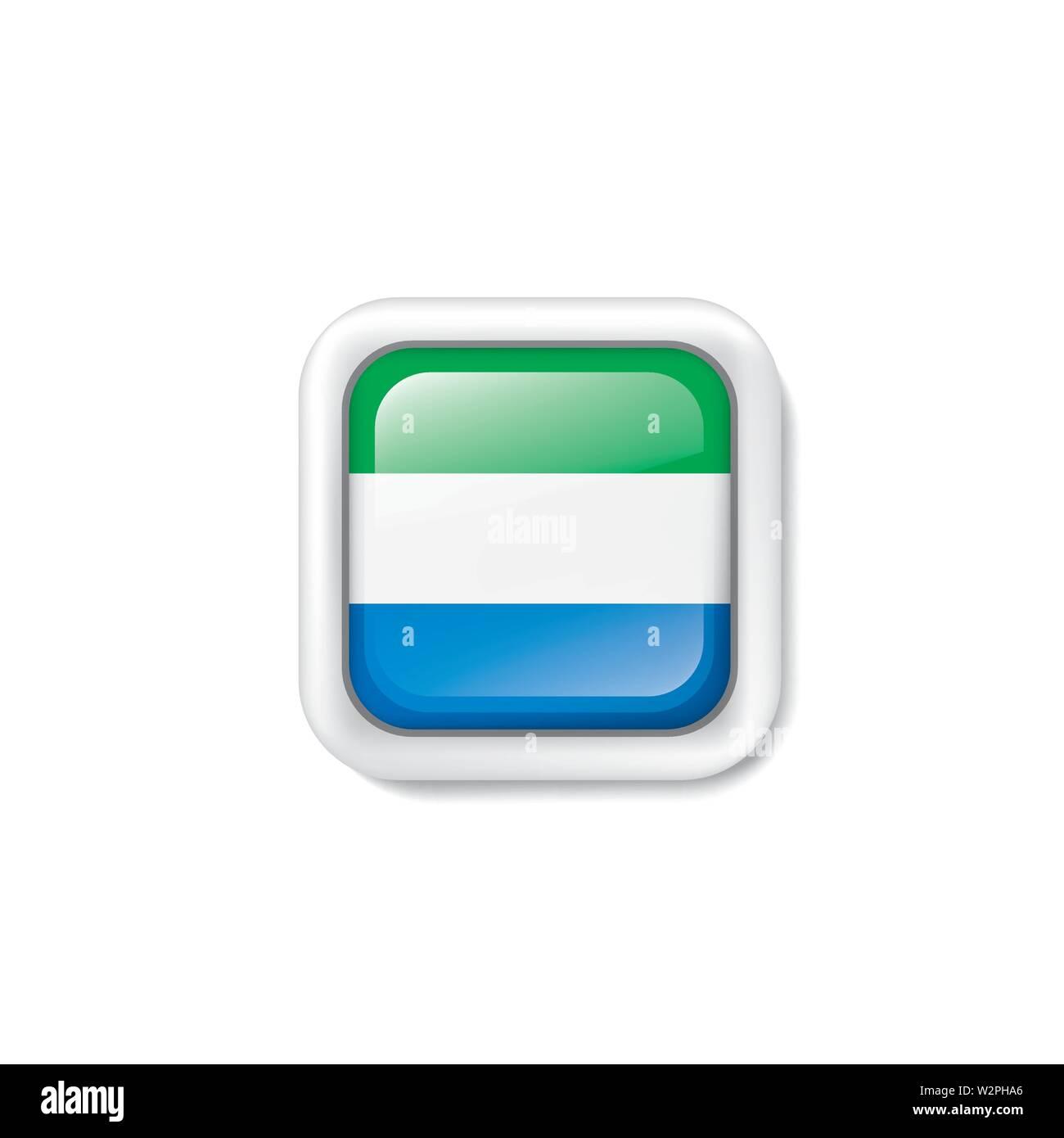 Sierra Leone flag, vector illustration on a white background. Stock Vector