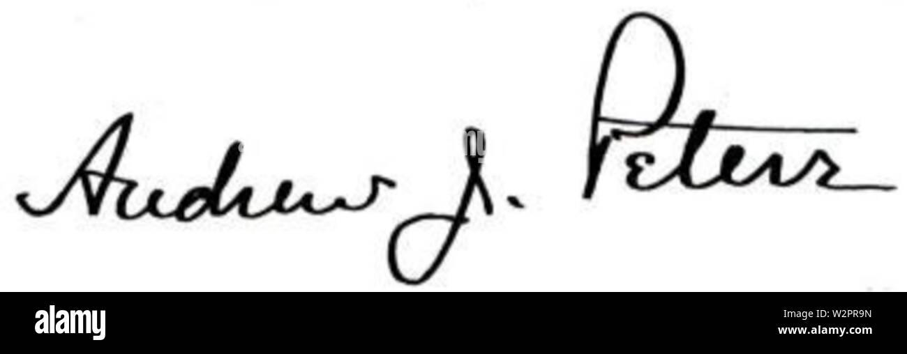 Andrew James Peters 42nd Mayor of Boston Signature - Stock Image