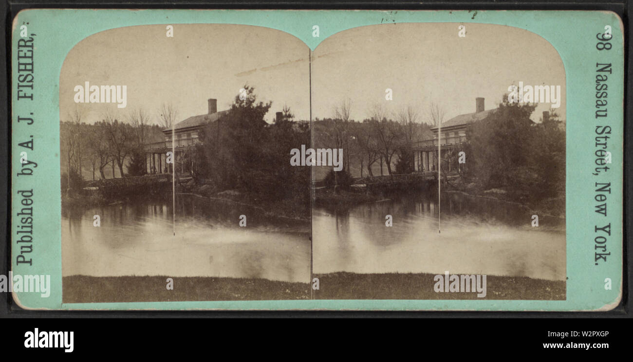 At Portage, NY, by Fisher, A J (Albert J), 1842-1882 - Stock Image
