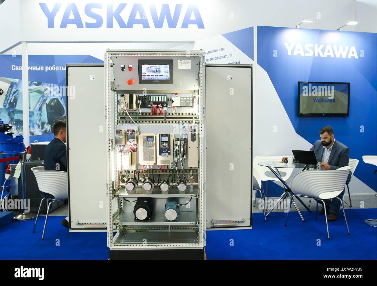 Yaskawa Industrial Robots Stock Photos & Yaskawa Industrial