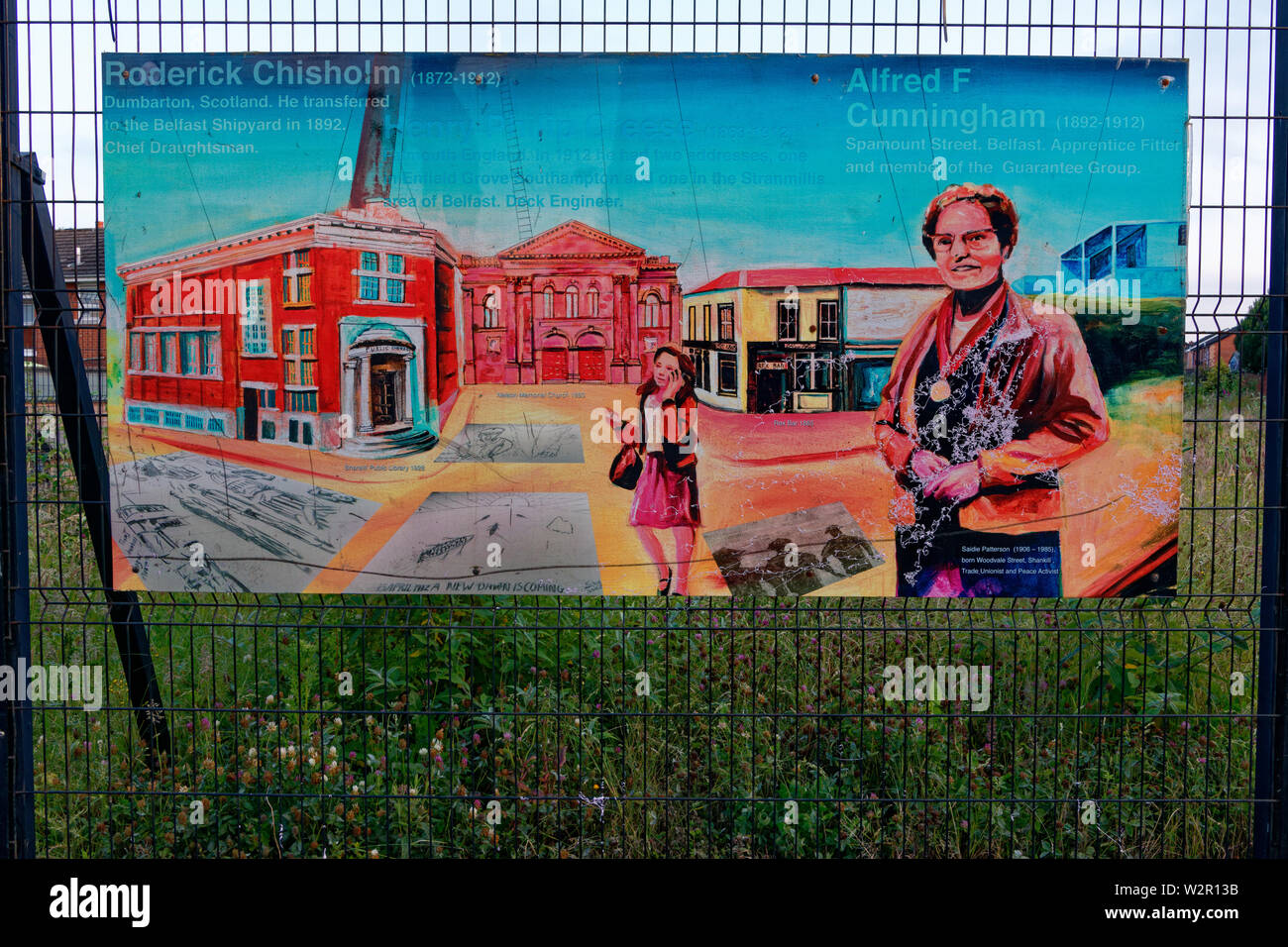 The memory of Titanic crew members on the Shankill road,Belfast,Northern Ireland. - Stock Image