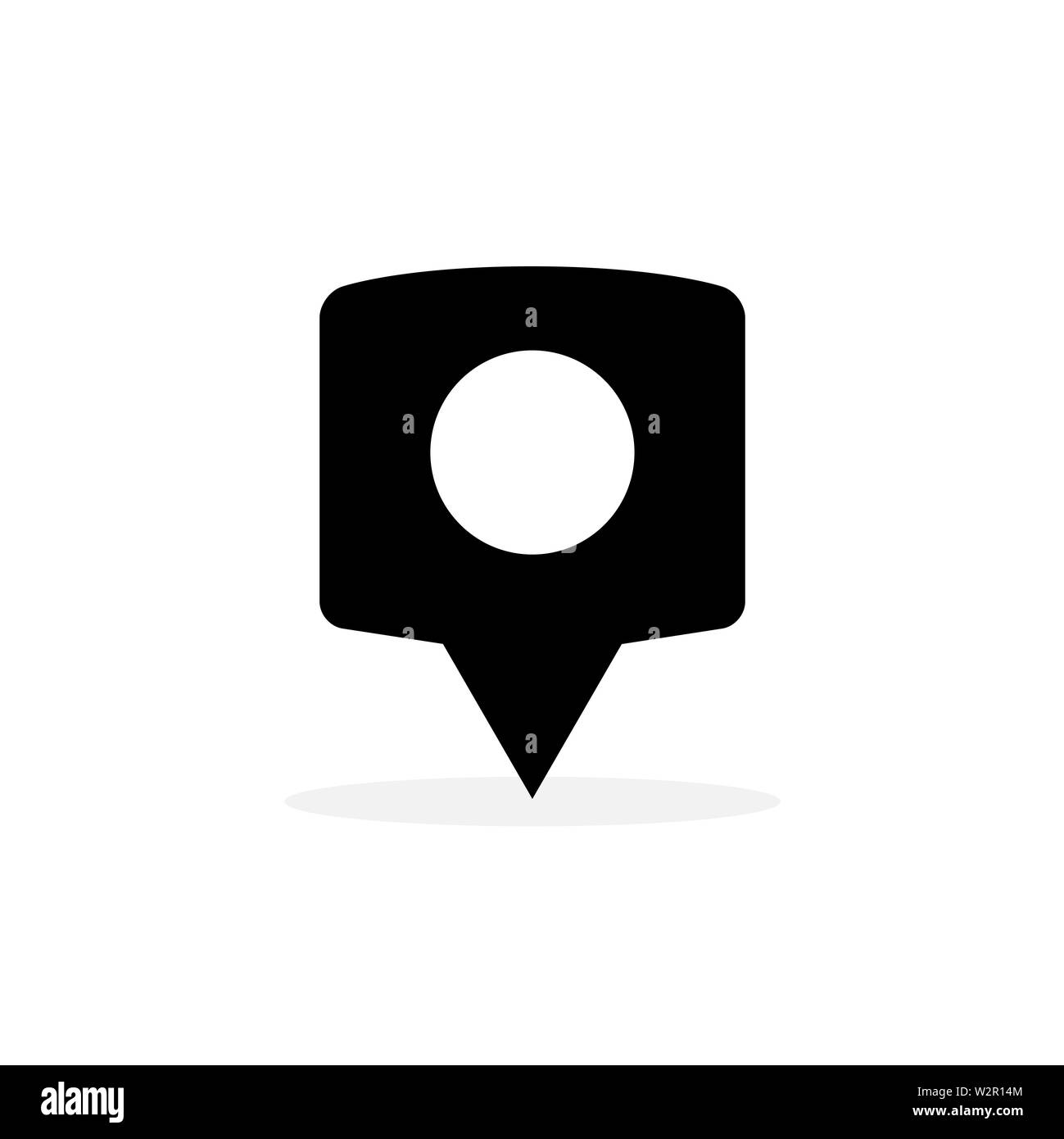 6bcb0d3dfa Locator Icon In Flat Style Vector For App, UI, Websites. Black Icon Vector