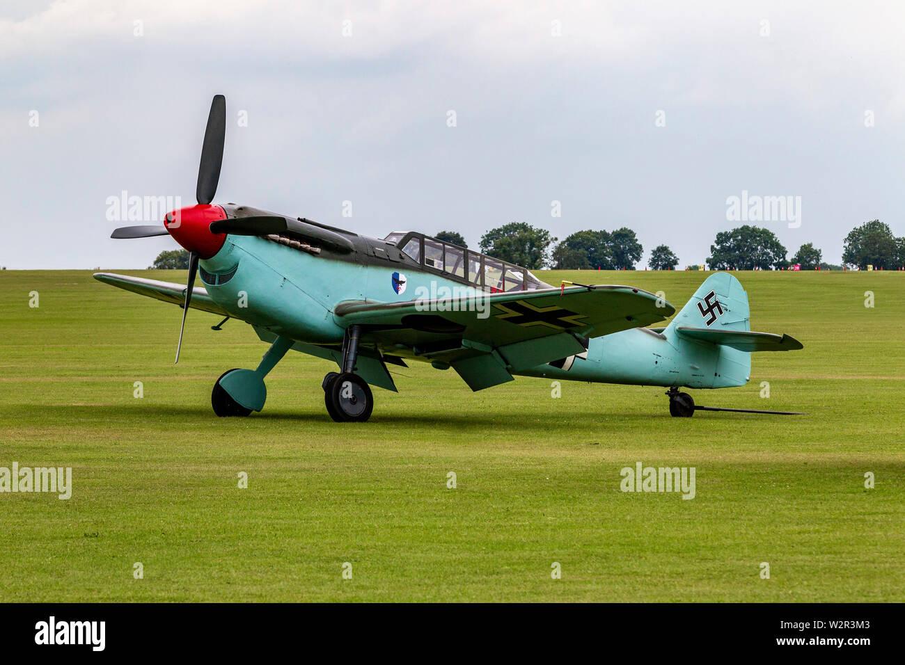 Messerschmitt on the ground at Sywell  Aerodrome, Northamptonshire, UK. - Stock Image