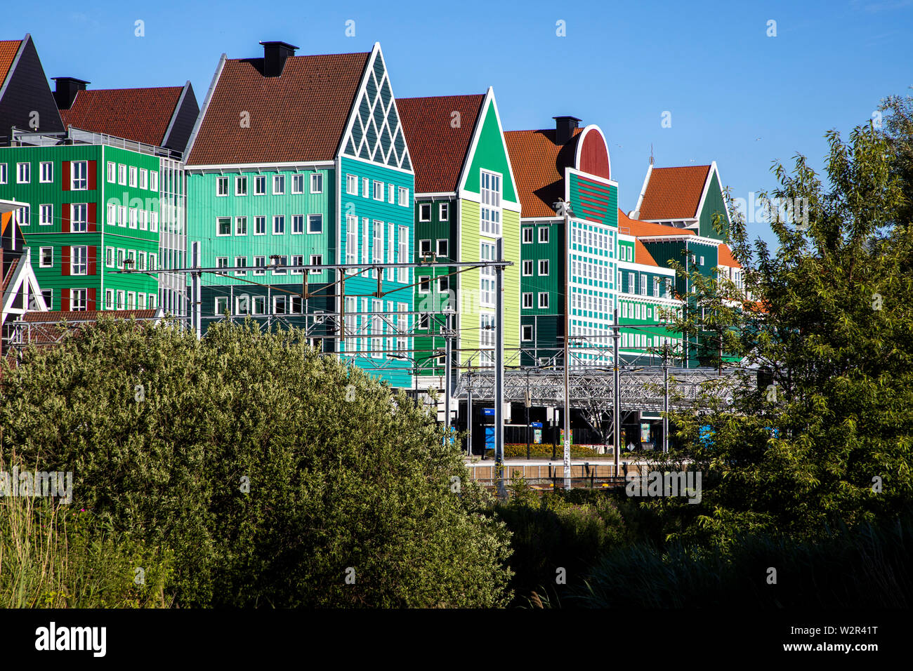 Zaandam, Netherlands, City Hall, administration building at the central station, Stock Photo