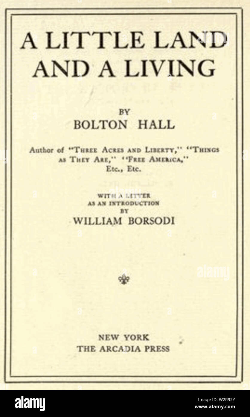 Bolton Hall Book Cover Little Land - Stock Image