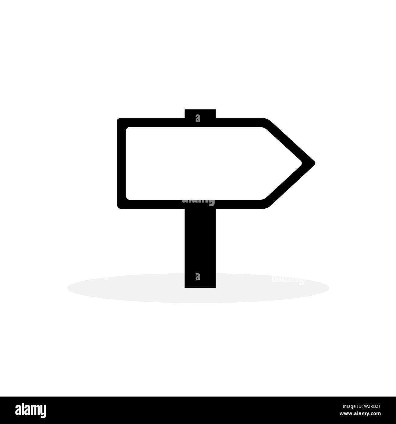 Signpost Icon In Flat Style Vector For Apps, UI, Websites. Black Icon Vector Illustration. - Stock Image