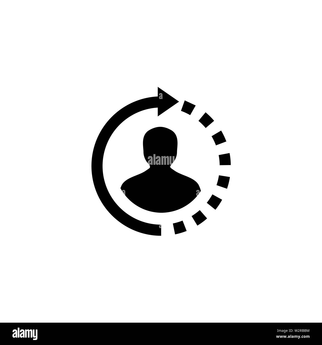Support Icon In Flat Style Vector For Apps, UI, Websites. Black Icon Vector Illustration. Stock Photo
