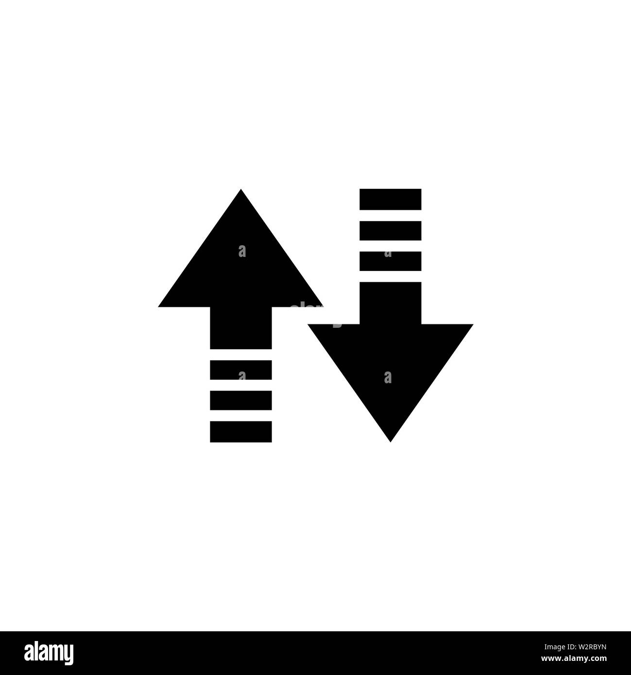 Up-Down Arrow Icon In Flat Style Vector For Apps, UI