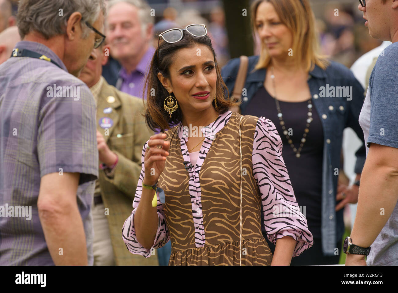 Anita Rani,Countryfile Live TV Presenter and Radio Broadcaster at  'The Great Yorkshire Show',Harrogate,North Yorkshire,England. - Stock Image