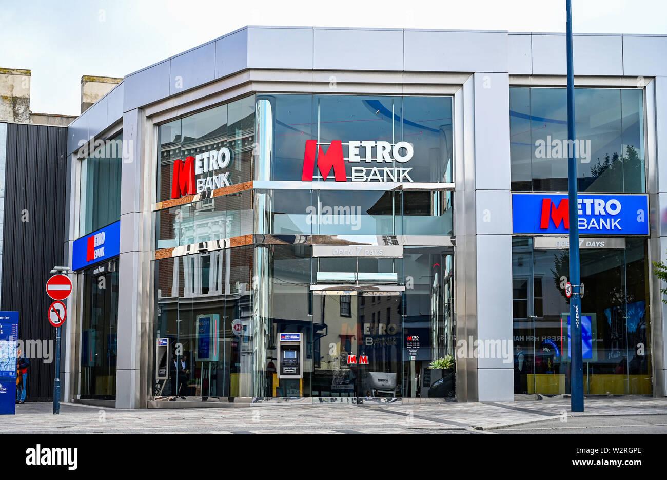 Maidstone Kent UK - The Metro Bank - Stock Image