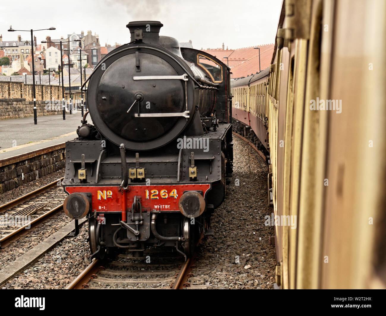 Locomotive LNER B1 61264 at Whitby Station Stock Photo
