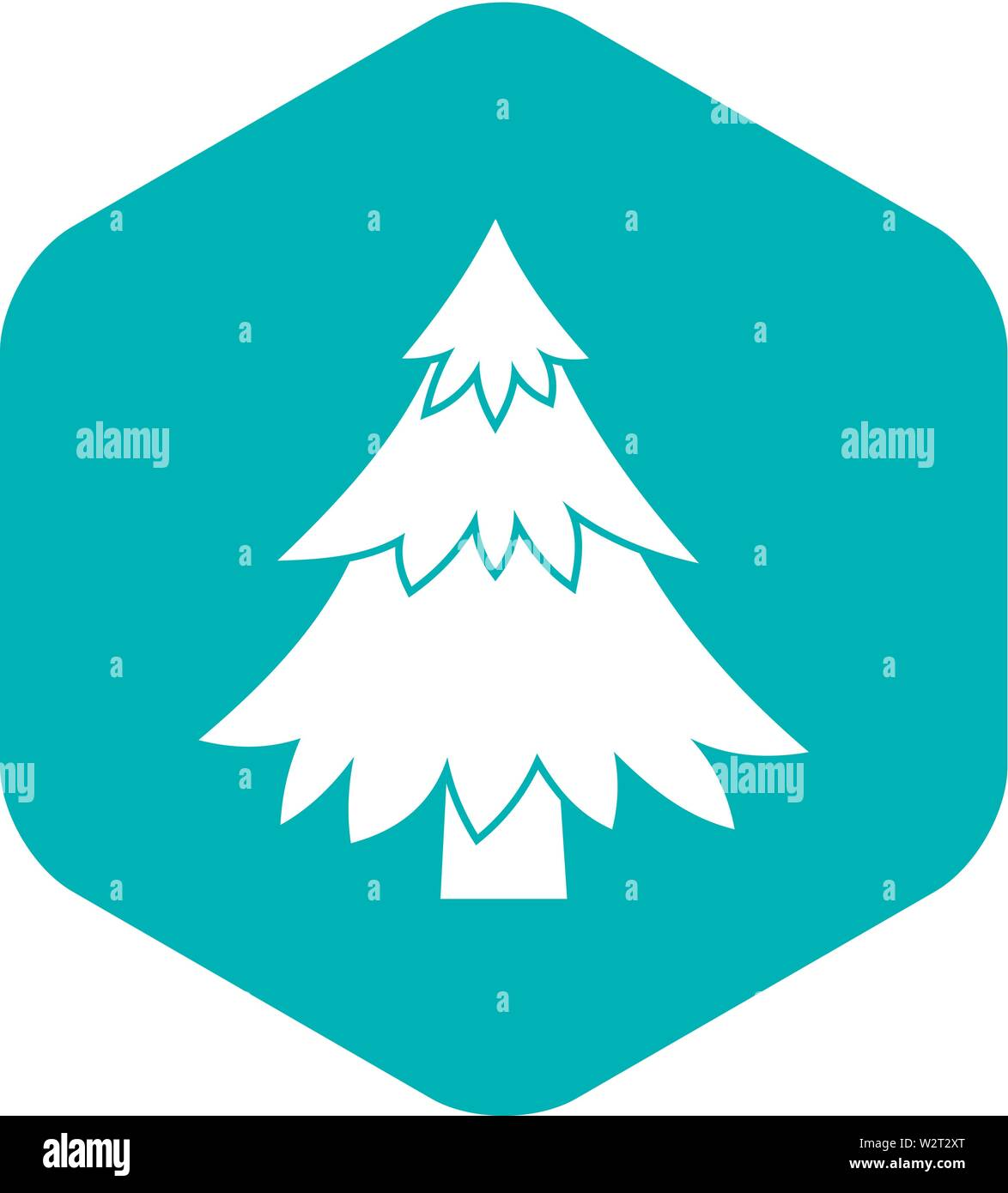 Coniferous tree icon, simple style - Stock Image