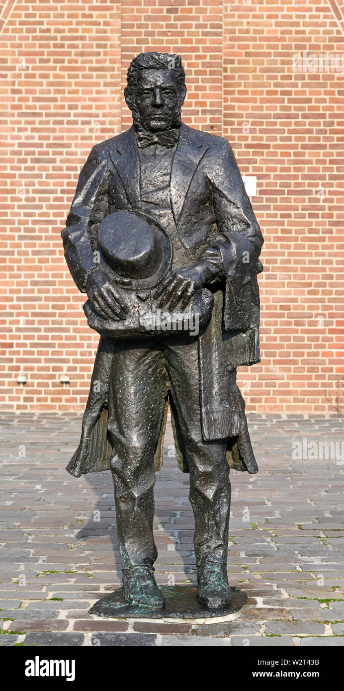 rotterdam, zuid holland /  netherlands - march 30, 2019:   statue of the dubious businessman and politician lodewijk pincoffs (1827-1911) at entrepoth - Stock Image