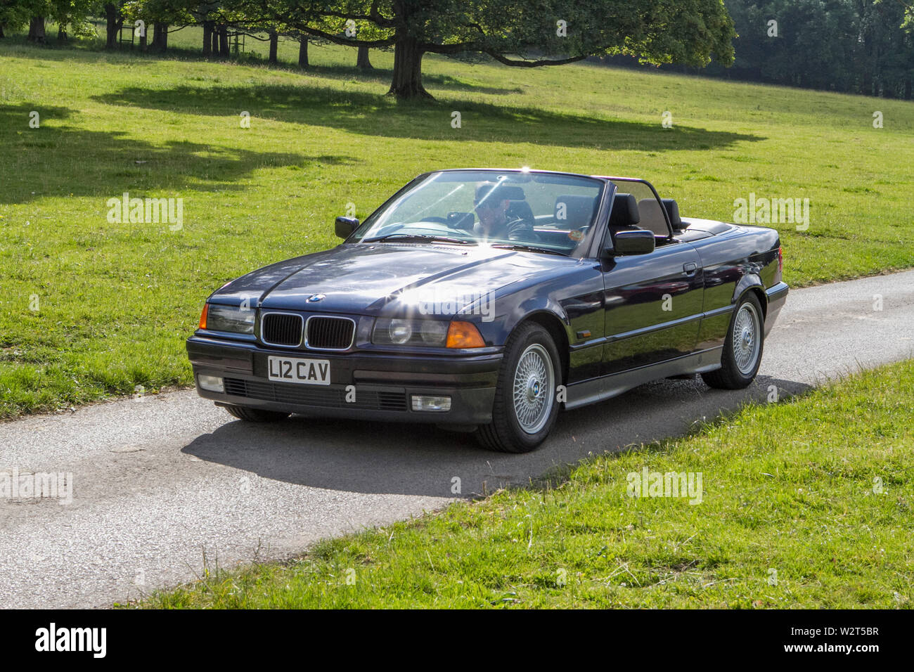 L12cav Bmw 325i Convertible Vintage Classic Restored Historic Vehicles Cars Arriving At The Leighton Hall Car Show In Carnforth Lancaster Uk Stock Photo Alamy