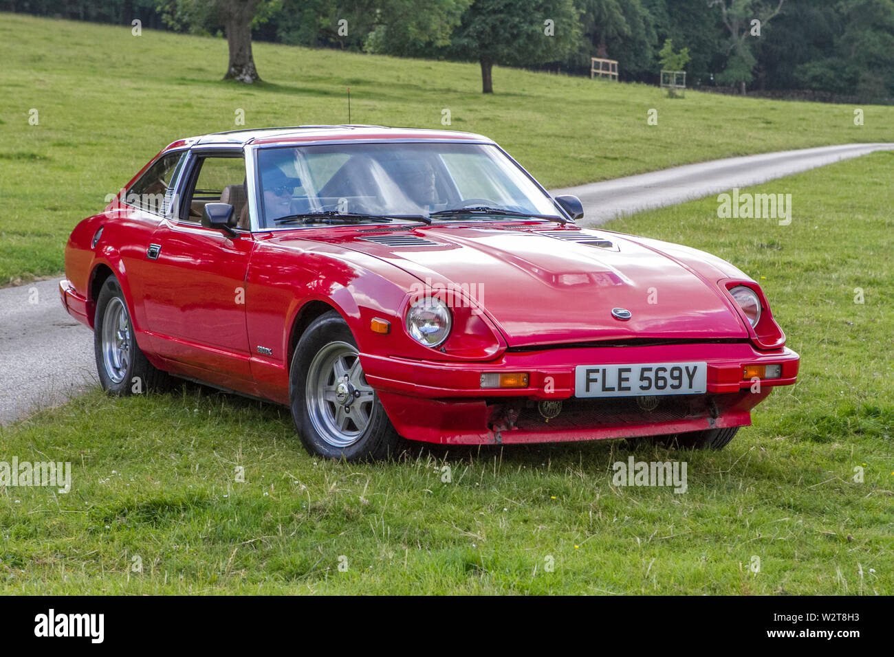 1983 Datsun 280 ZX; Vintage classic restored historic vehicles cars arriving at the Leighton Hall car show in Carnforth, Lancaster, UK Stock Photo
