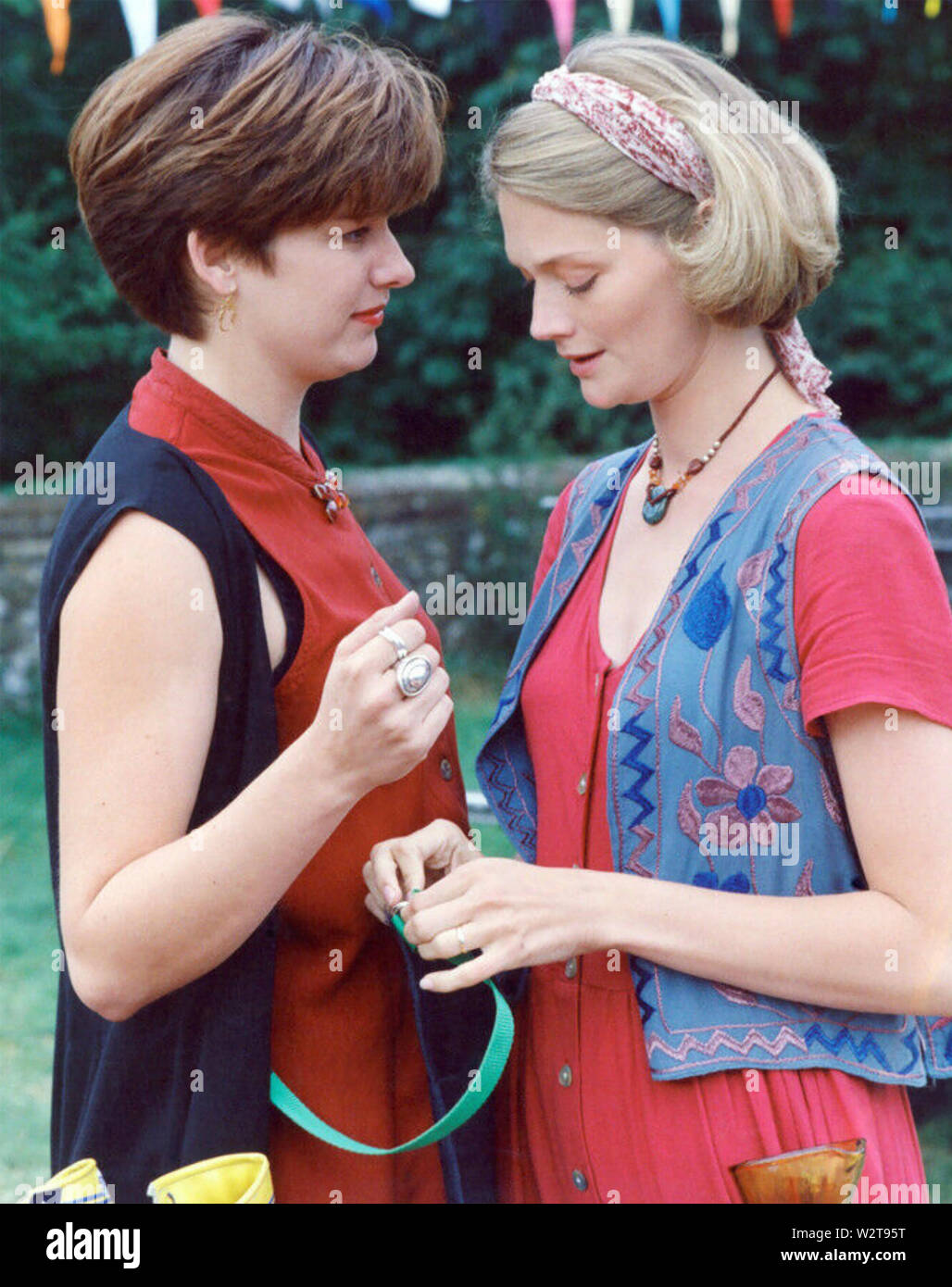A VILLAGE AFFAIR 1995 Warner Sisters Production for ITV with Sophie Ward at right and Kerry Fox - Stock Image