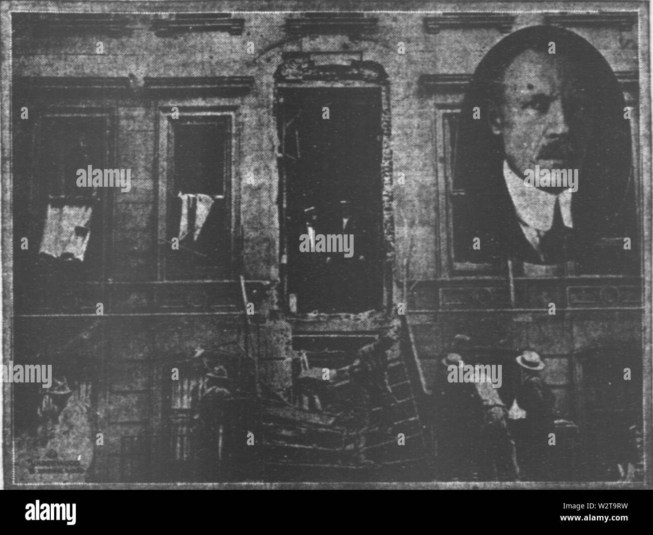 Demolished home of home of Judge Charles C Nott JR New York Bolshevist bomb plot 1919 - Stock Image