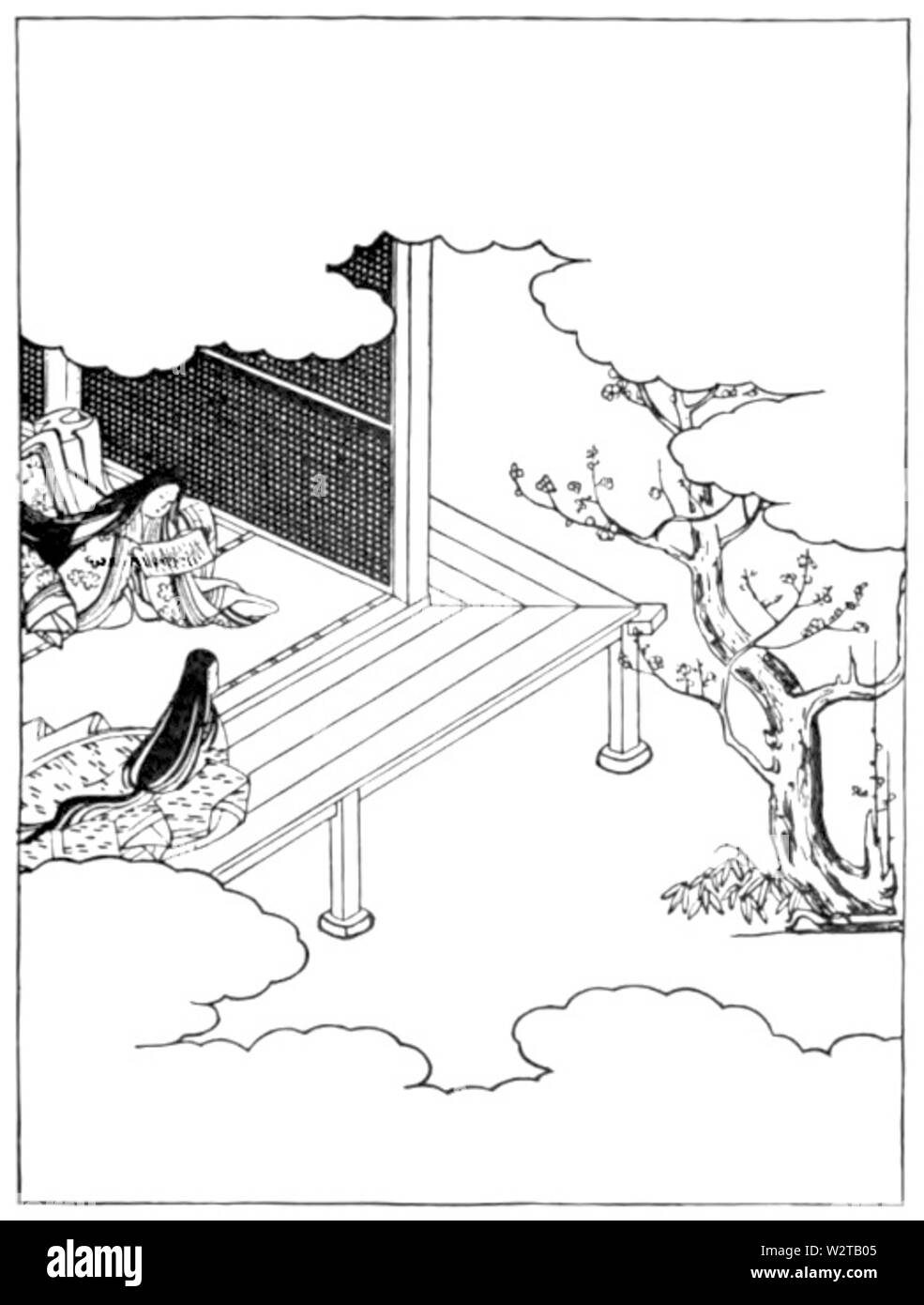 Diaries of Court Ladies of Old Japan 053 - Stock Image