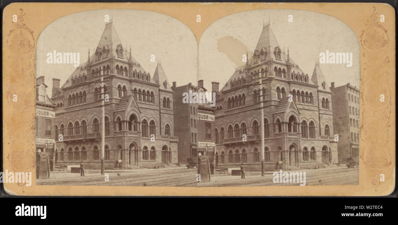 Dry Dock Savings Bank, from Robert N Dennis collection of stereoscopic views - Stock Image