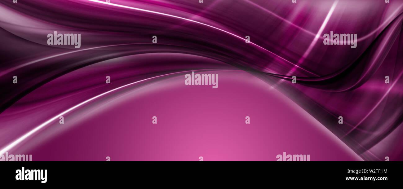 Abstract elegant romantic panorama background design illustration - Stock Image