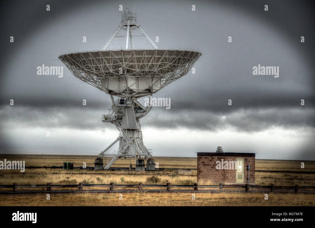 VLR Radio Telescope Stock Photo