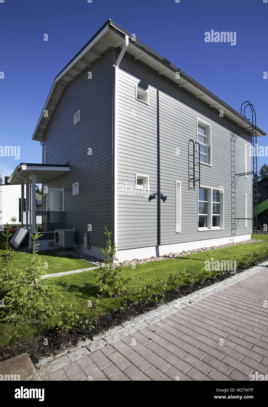 House 15 at exhibition Asuntomessut 2012 in Tampere. Finland - Stock Image