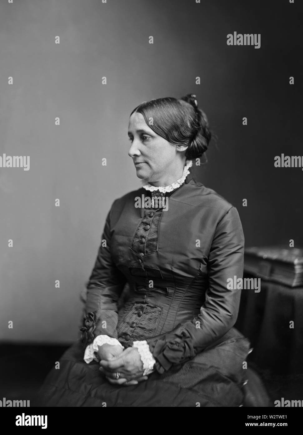 Lucy Webb Hayes, (1831-89), First Lady of the United States 1877-81, Wife of U.S. President Rutherford B. Hayes, Seated Portrait, Photograph, Brady-Handy Collection, 1870's - Stock Image