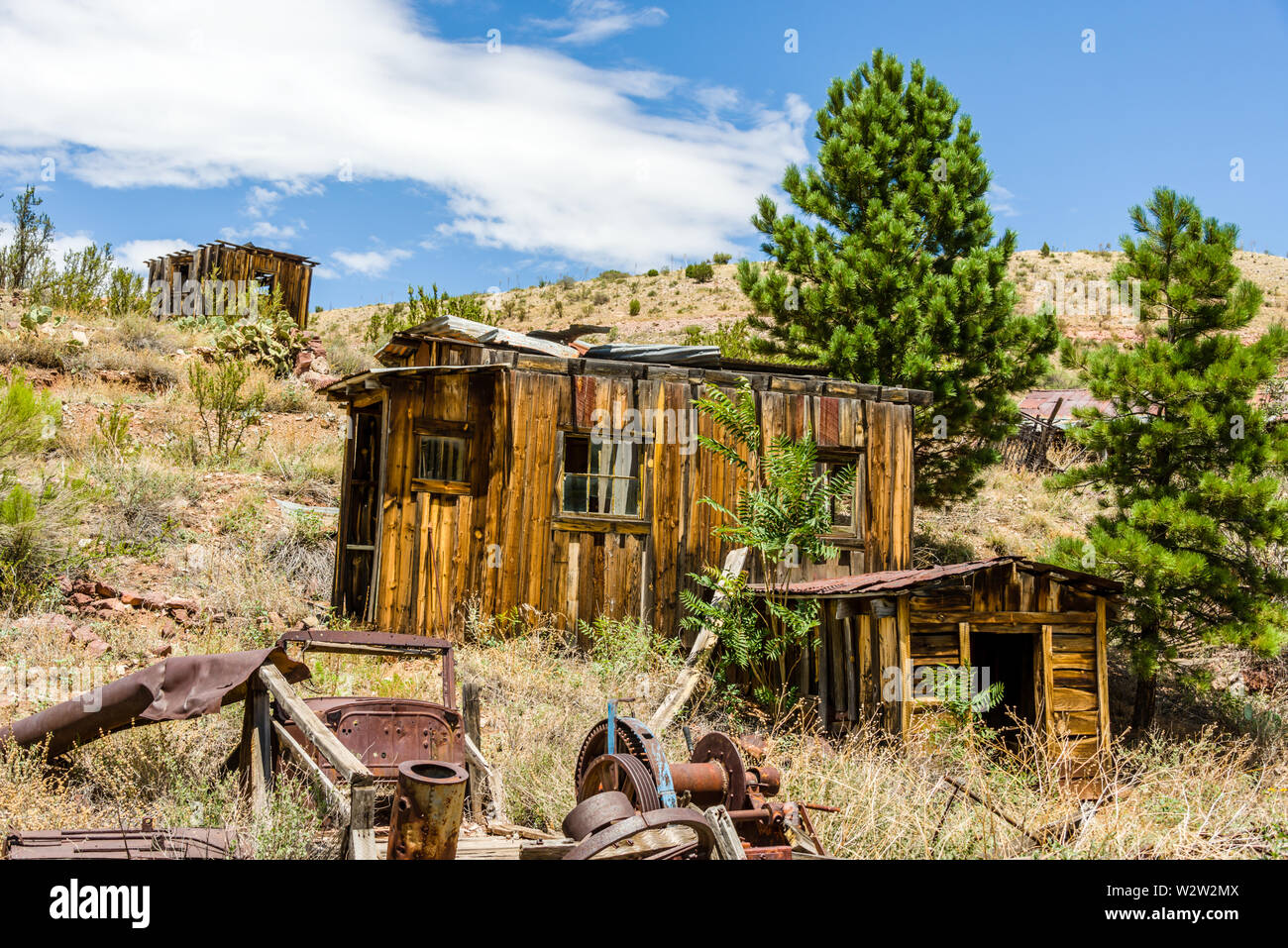 Jerome Ghost Town Shacks - Stock Image